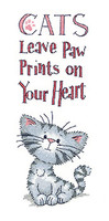 Cats' Paw Prints Cross Stitch Kit By Heritage