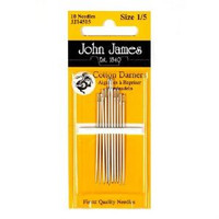 John James Cotton/Short Darners Needles Size 9