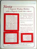 Three Magnetic window markers - Red