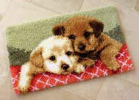 Two Pups Latch Hook Rug Kit