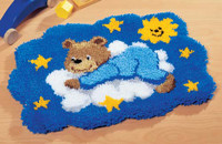 Bear on a Cloud Latch Hook Rug Kit