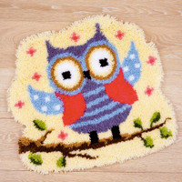 Fun Owl Vervaco Latch Hook Rug Kit