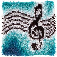Treble Clef Music Latch Hook Rug Kit