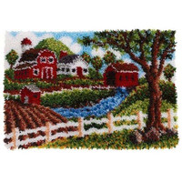Heritage Homestead Latch Hook Rug Kit