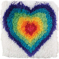 From The Heart Shaggy Latch Hook Rug Kit
