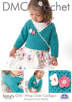 Girls Wrap Over Cardigan Crochet Pattern Booklet
