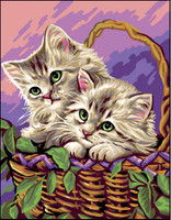 Entre Chats Tapestry Canvas