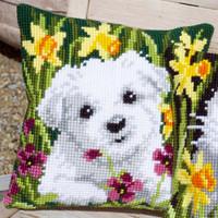 Westie in Daffodils Chunky Cross Stitch Kit by Vervaco