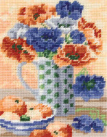 Anemones Still Life Tapestry Starter Kit