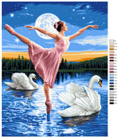 Le Lac des Cygnes Tapestry Canvas