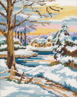Winter Scene Tapestry Kit