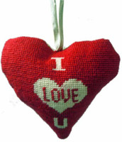 I Love U Heart Tapestry Cushion Kit By Cleopatra