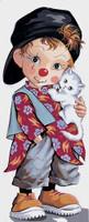 Petit Clown de pio Tapestry Canvas