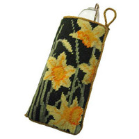 Daffodils Dark Tapestry Spectacle Case Kit
