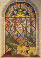 Autumn through the Window Long Stitch Kit