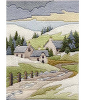 Winter Cottage Long Stitch Kit