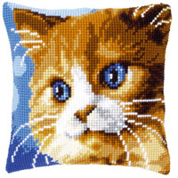 Borown Cat Tapestry Cushion Kit by Vervaco