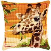 Giraffe Tapestry Cushion Kit by Vervaco