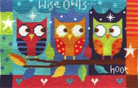 Wise Owls Needle Point By Stitching Shed