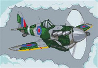 Spitfire Aeroplane Cross Stitch Kit