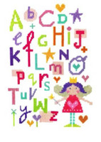 Fairy Alphabet Cross Stitch Kit By Stitching Shed