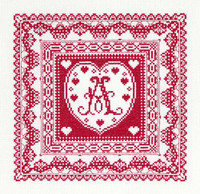 Lace Initials Cross Stitch Kit