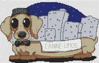 Daschund Dog Caricatue Cross Stitch Kit