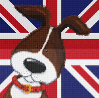 Harry & Friends Brown Dog Cross Stitch Kit By Stitchtastic