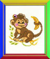 Monkey Cross Sttich Kit  By Riolis