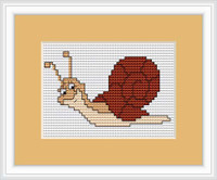Snail Mini Cross Stitch Kit By Luca-S