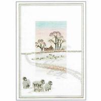 Snowy Sheep Cross Stitch Kit