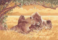 Lions Cross Stitch Kit By Heritage
