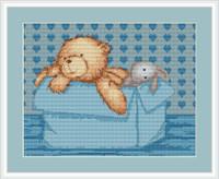 Baby Bear Boy Cross Stitch Kit By Luca S