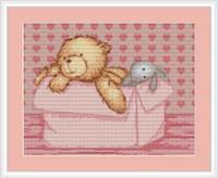 Baby Bear Girl Cross Stitch Kit By Luca S
