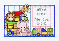 Birth Announcement Cross Stitch Kit By Janlynn