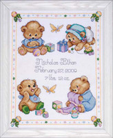 Baby Bears Sampler Cross Stitch Kit By Design Works
