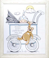 Buggy Boy Sampler Cross Stitch Kit By Design Works