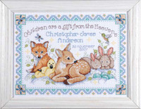 Woodland Baby Sampler Cross Stitch Kit By Design Works