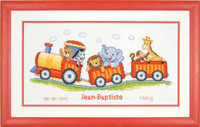 Animal Train Cross Stitch Kit