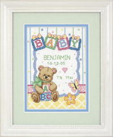 Baby Block Birth Record Cross Stitch Kit