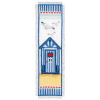 Beach Hut Bookmark Vervaco Cross Stitch Kit