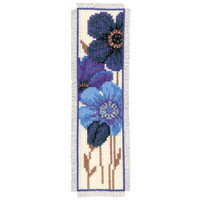 Blue Poppy 2 Bookmark Vervaco Cross Stitch Kit