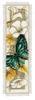 Green Butterfly Bookmark Cross Stitch Kit