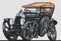 Fiat 1921 Torpedo Cross Stitch Kit By Stitchtastic