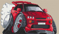 Ford Rs Cosworth Caricature Cross Stitch Kit By Stitchtastic