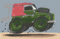 Land Rover Series Ii Caricature Cross Stitch Kit By Stitchtastic