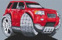 Range Rover Freelander Caricature Cross Stitch Chart By Stitchtastic
