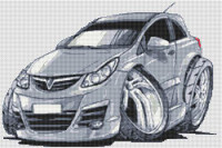 Vauxhall Corsa Cross Stitch Chart By Stitchtastic