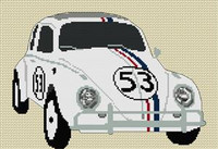 Herbie Volkswagen Beetle Cross Stitch Kit
