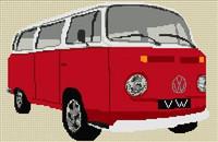 Volkswagen Camper Van Bay Window Cross Stitch Kit